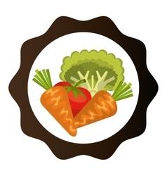 salad vegetables fresh icon vector image
