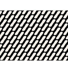 Seamless Black and White Rounded Rectangles vector image
