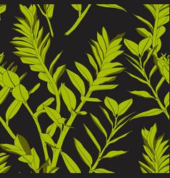 seamless tropical pattern vivid tropic foliage vector image