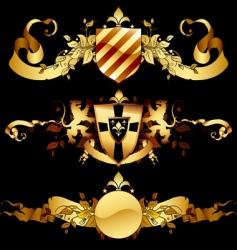 set of heraldic shields vector image