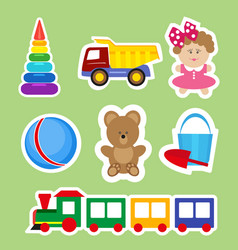 Set of stickers for decoration of children s rooms vector