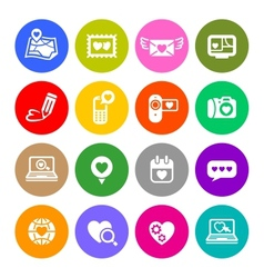 set valentines day buttons love internet signs vector image