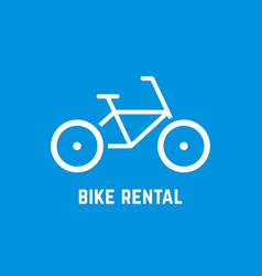 Simple white bike rental icon vector