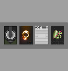 stock set cover templates vector image