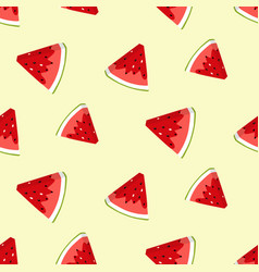 summer seamless pattern with watermelon slices vector image