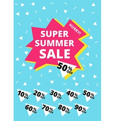 Super summer sale banner vector