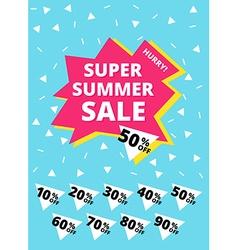Super summer sale banner vector