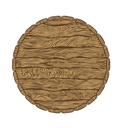 top of wooden barrel vector image