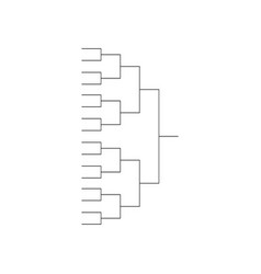 tournament bracket background icon template vector image