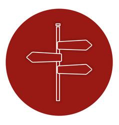Traffic signal arrows icon vector