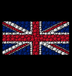 Uk flag pattern of fist icons vector