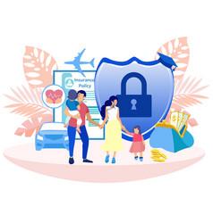 Voluntary medical insurance programs cartoon vector