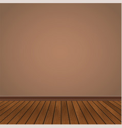 Wall and wooden floor vector