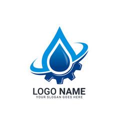 water and gas logo design editable abstract logo vector image