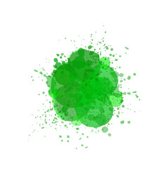 watercolor splash effect background green brush vector image