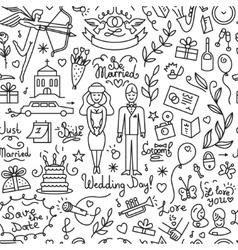 wedding - seamless background vector image