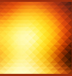 Yellow coral pink black rows of triangles vector