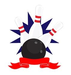 Bowling club logo vector image vector image