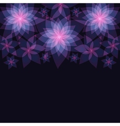 Dark abstract floral background with flowers vector image vector image
