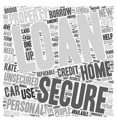 Do You Know Which Loan You Want text background vector image vector image