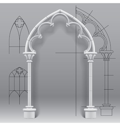 Gothic arch vector image vector image