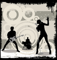 grunge concert vector image vector image