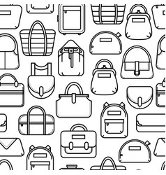 monochrome seamless pattern with fashion bag icons vector image