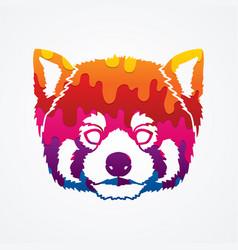red panda head cartoon bear face vector image