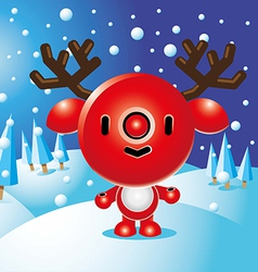 Rudolph Christmas Character vector image vector image