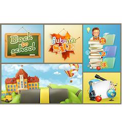 School education and schoolchildren set of vector image vector image