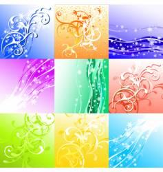 season background set vector image vector image