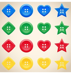 Set of buttons in different colors vector image vector image