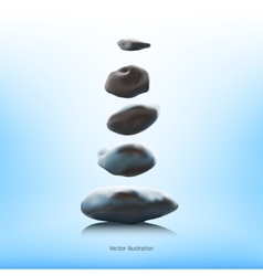 SPA stones on a blue background vector image