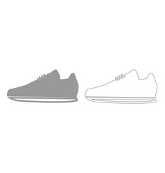 sport shoes grey set icon vector image
