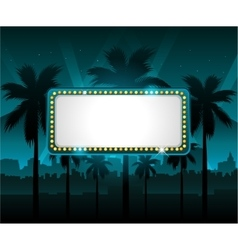 Casino banner with city lights in background vector image vector image