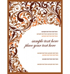 floral template vector image vector image