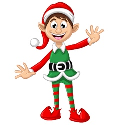 happy Christmas elf for you design vector image vector image