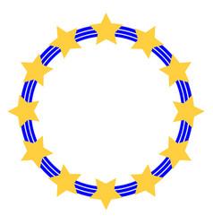 symbol of the european union stars in three vector image