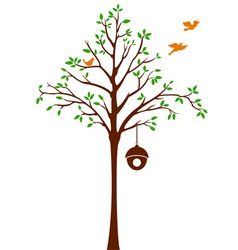 Birds leaving Tree and Cage vector image