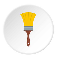brush icon circle vector image vector image