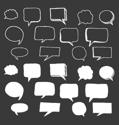 Hand Drawn Speech Bubbles Doodle vector image vector image