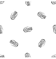 Ooops comic book explosion pattern seamless black vector