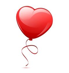 red heart balloon vector image vector image