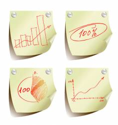 statistic charts vector image vector image