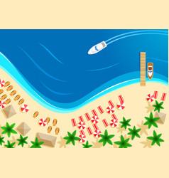 summer ocean beach vacation top view vector image
