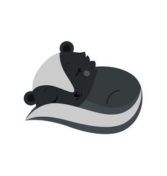 adorable cartoon sleeping skunk vector image vector image