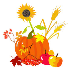 autumn harvests vector image