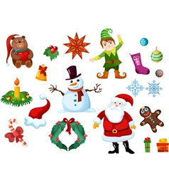 christmas eslement set vector image vector image