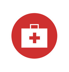 first aid kit bag icon vector image vector image