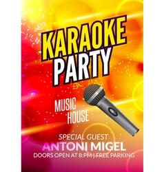 Karaoke party invitation poster design template vector